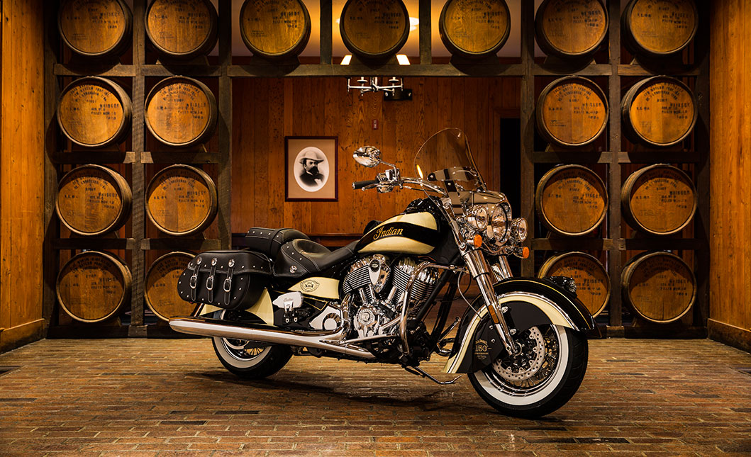 Indian Motorcycle Los Angeles is proud to host 150th anniversary Jack Daniels Indian Chief Vintage motorcycle this Friday 5-9PM. Join us for an evening of music, drinks, BBQ, raffle tickets to win the bike, and 15% off on all apparel. 
